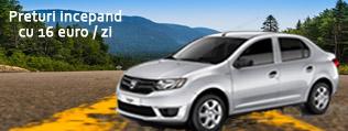 Inchiriere masina - Dacia Logan. Preturi de la 16 euro/zi