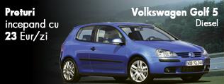 Inchiriere masina - Volkswagen Golf. Preturi de la 23 euro/zi
