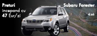 Inchiriere masina - Subaru Forester. Preturi de la 47 euro/zi